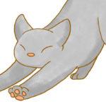 【フリー素材】伸びる猫①