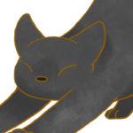 【フリー素材】伸びる猫②