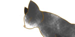 【フリー素材】伸びる猫③