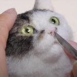 【本物!?】羊毛フェルトで作る猫がリアルすぎて過程が痛そう